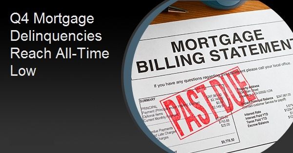 Q4 Mortgage Delinquencies Reach All-Time Low