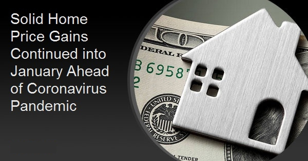 Solid Home Price Gains Continued into January Ahead of Coronavirus Pandemic