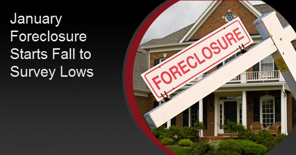 January Foreclosure Starts Fall to Survey Lows