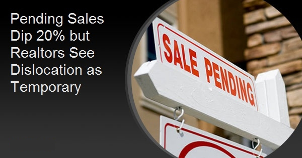 Pending Sales Dip 20% but Realtors See Dislocation as Temporary